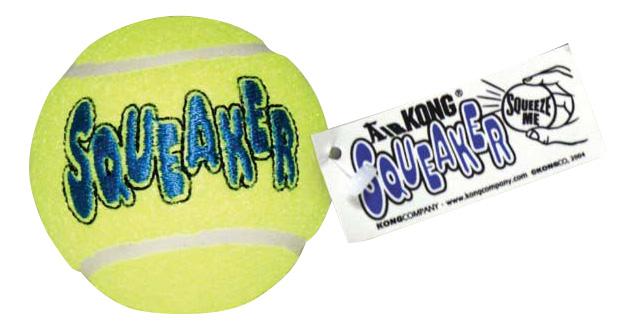Апорт для собак KONG Теннисный мяч, зеленый, длина 8 см фото