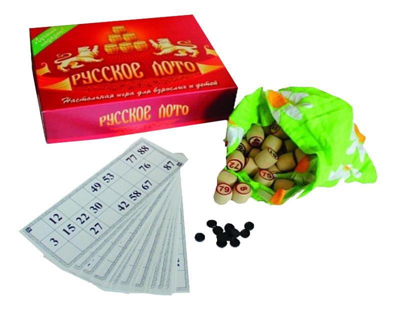 Купить Семейная настольная игра Владспортпром Русское лото, Семейные настольные игры