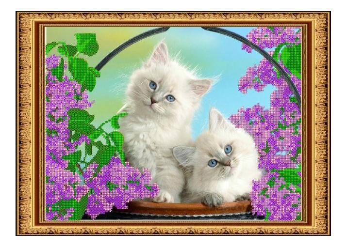 Вышивка для детей Светлица Коты фото