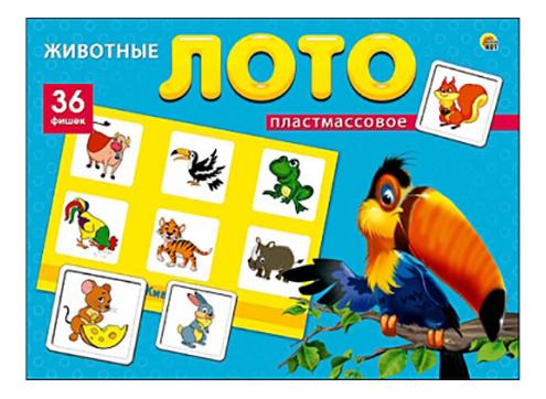 Купить Настольная игра Рыжий Кот Лото животные 36 фишек, Рыжий кот, Семейные настольные игры