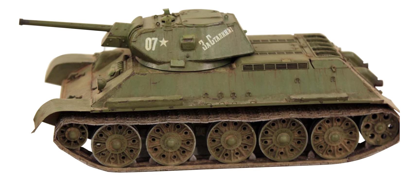 Модель для сборки Zvezda Советский средний танк Т-34/76