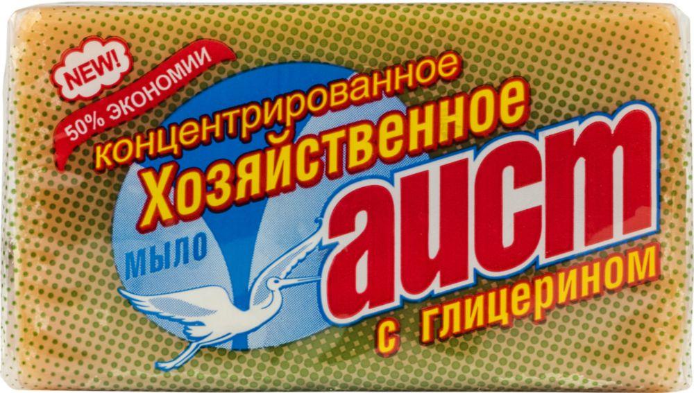 Хозяйственное мыло Аист с глицерином 150 г