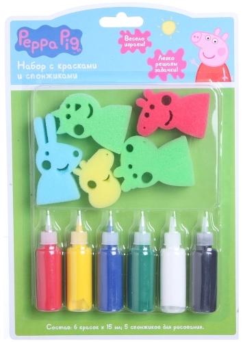 Купить Набор с красками и спонжиками Peppa Pig Свинка Пеппа (31074), Наборы для рисования