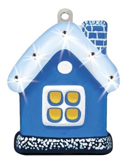 Поделка из шар-папье Шар-Папье Домик в коробке со стразами фото