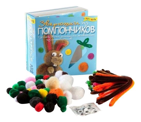 Купить Зверушки из помпончиков, Поделка Fun Kits Зверушки из помпончиков,