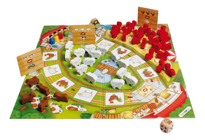 Купить Семейная настольная игра Beleduc Веселая ферма 22710, Семейные настольные игры