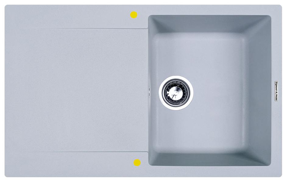 Мойка для кухни гранитная Zigmund #and# Shtain RECHTECK 775 млечный путь