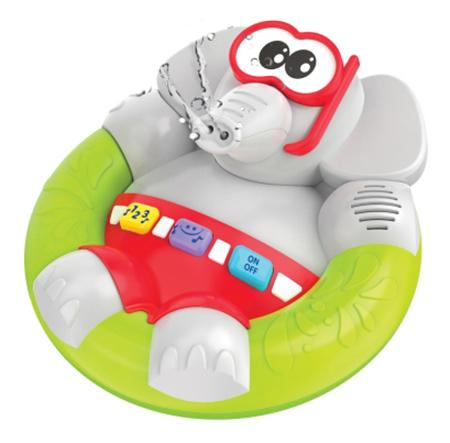 Купить Интерактивная игрушка для купания 1 TOY Веселый слоненок, Игрушки для купания