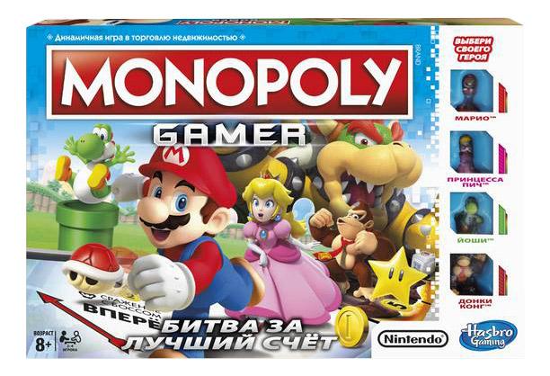 Купить Экономическая настольная игра Hasbro Games Монополия. Геймер, Экономические настольные игры