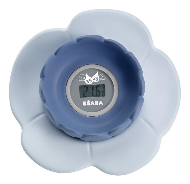 Купить Электронный термометр для воды BEABA Lotus blue, Baeba, Аксессуары для купания