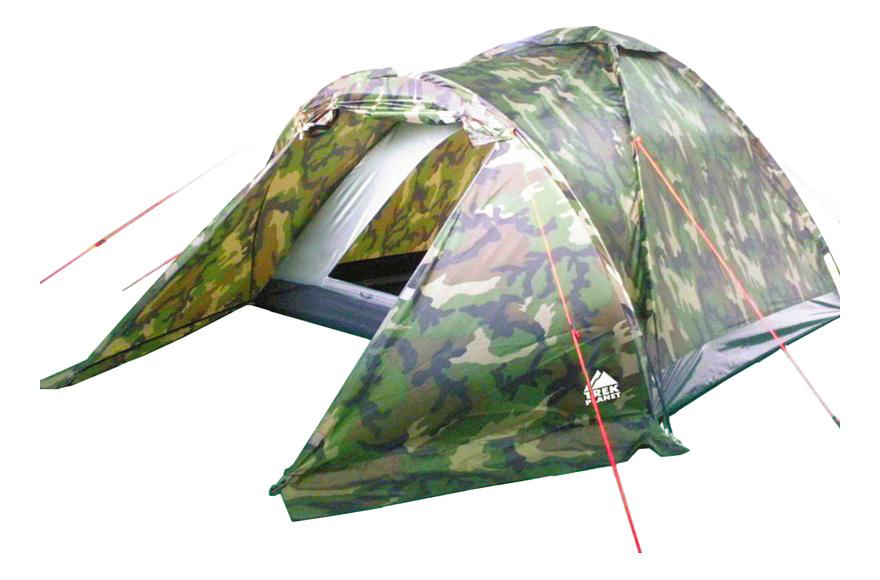 Палатка Trek Planet Forester трехместная зеленая/коричневая
