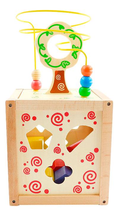 Сортер Мир Деревянных Игрушек Логический кубик фото