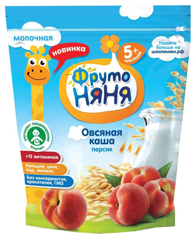 Каша молочная ФрутоНяня Овсяная с персиком