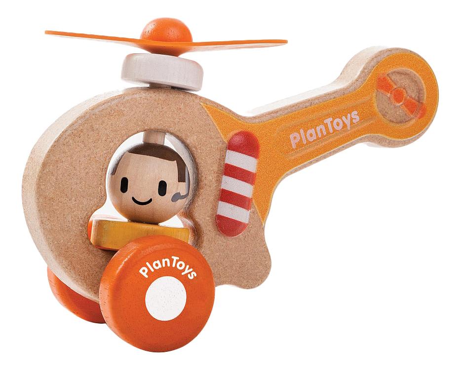 Купить Средняя, Каталка детская PlanToys Вертолет, Каталки детские