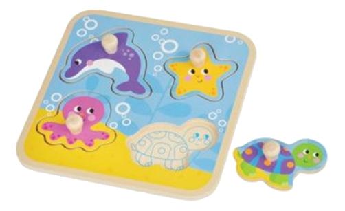 Купить Море, Mapacha Рамка-вкладыш Mapacha море 4 элемента 76670, Развивающие игрушки
