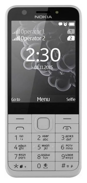 Мобильный телефон Nokia 230 DS White/Silver (RM-1172) фото