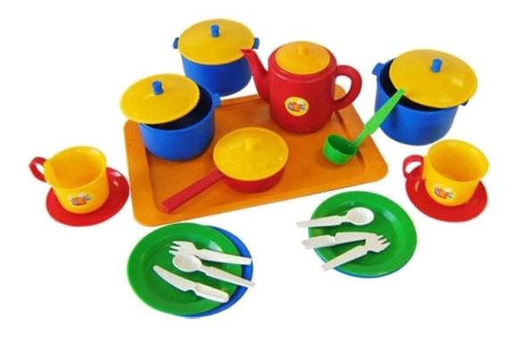 Набор посуды Хозяюшка 25 предметов Плэйдорадо 21006.