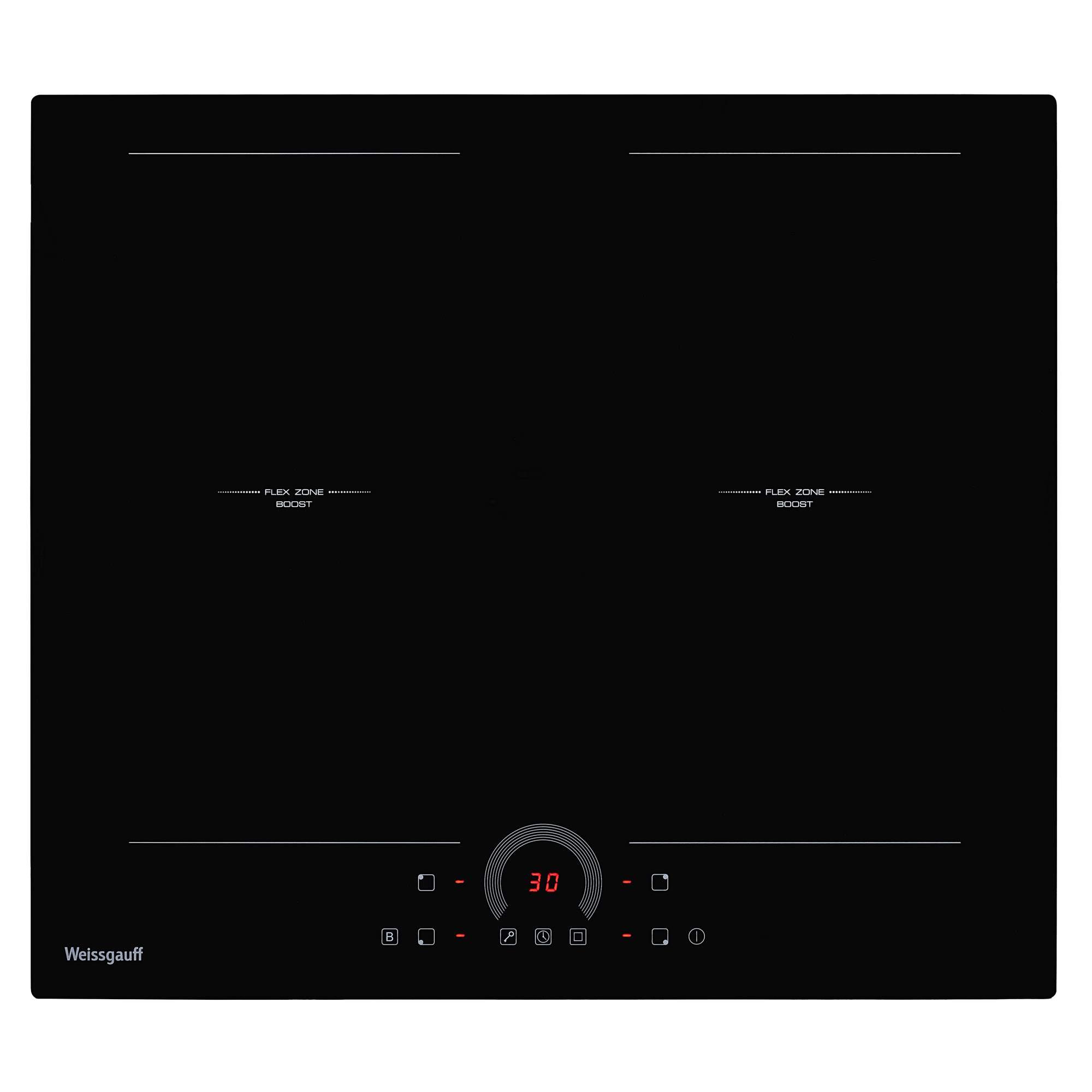 Встраиваемая варочная панель индукционная Weissgauff HI 642 BFZ Black фото