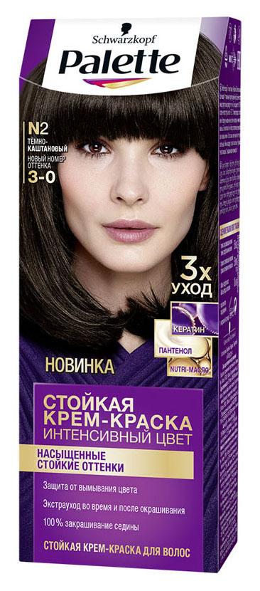 Краска для волос Palette Интенсивный цвет N2 Темно-каштановый 110 мл