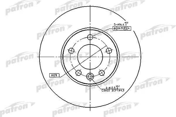 Тормозной диск PATRON PBD4308 фото