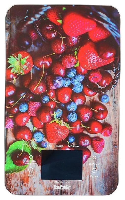 Весы кухонные BBK KS107G Черные ягоды