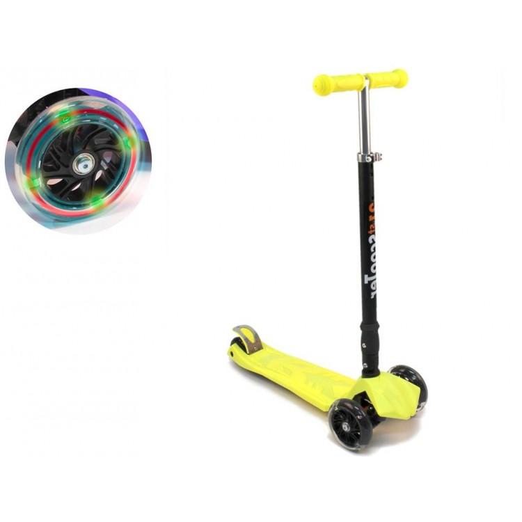 Купить Самокат трехколесный Triumf Active Maxi складной желтый, Самокаты детские трехколесные