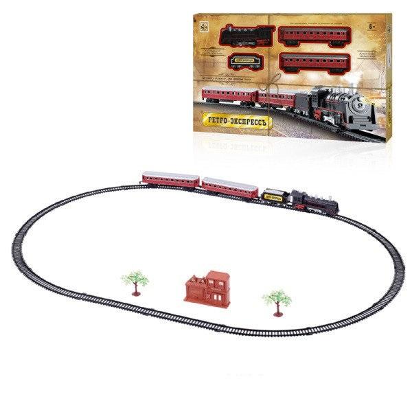 Купить Железная дорога Ретро Экспресс 1Toy, свет, звк, паровоз, 3 вагона, 21 деталь, (Т10147), 1 TOY, Детские железные дороги