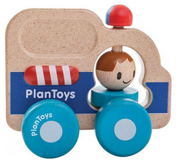 Купить Каталка детская Plan Toys Rescue Car Полицейская машина 5686, PlanToys, Каталки детские