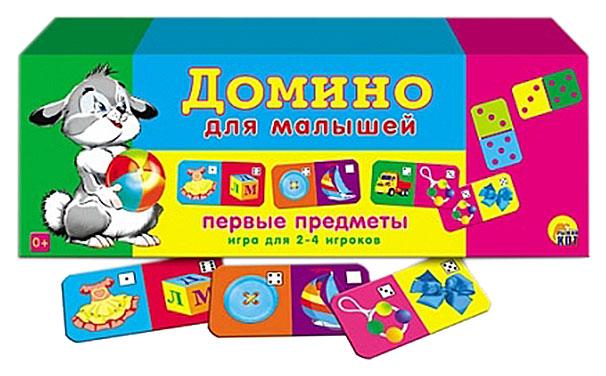 Купить Игра настольная Рыжий кот Домино для малышей, Первые Предметы, Семейные настольные игры
