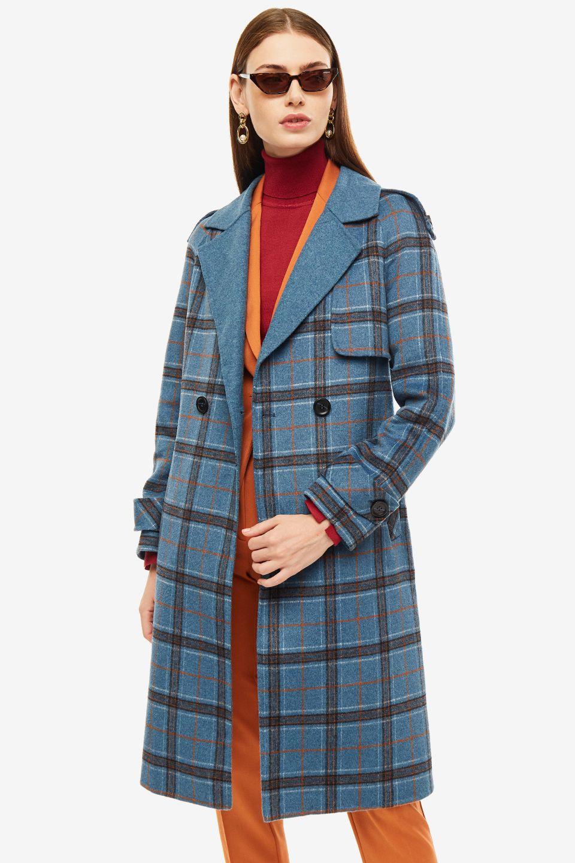Пальто женское La Biali синее