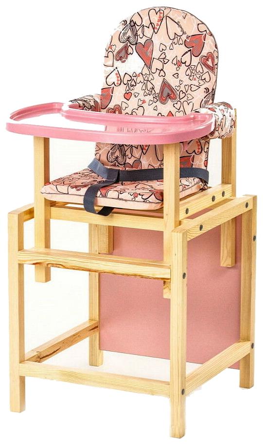 Купить СЕНС- М Стул-стол для кормления СТД 07 пластиковая столешница Розовый СТД0706, Сенс-М,