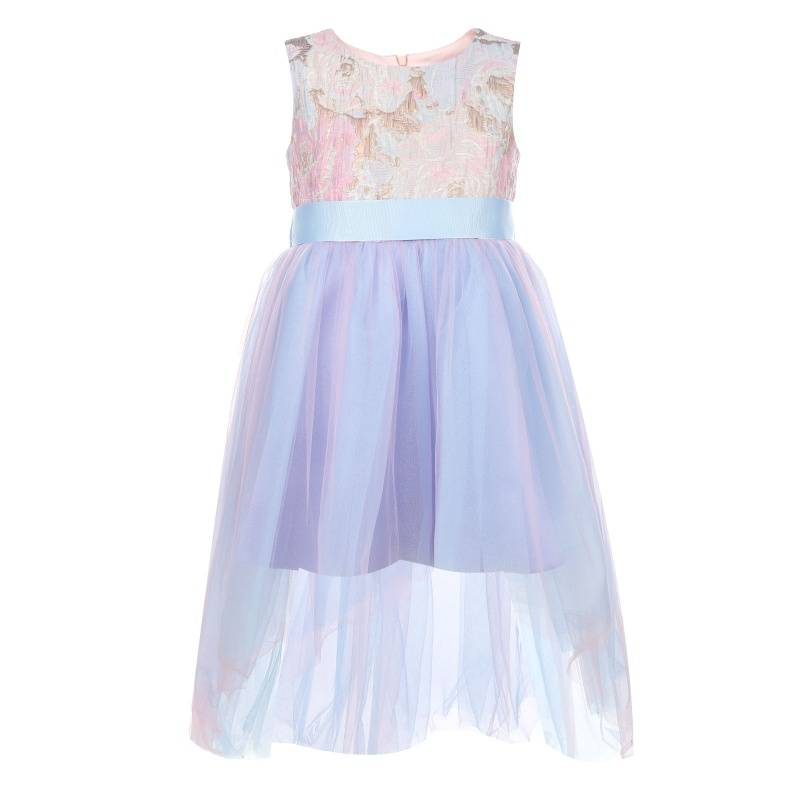 Купить 1581, Платье Выше радуги UNONA D'ART, цв. сиреневый, 134 р-р, Платья для девочек