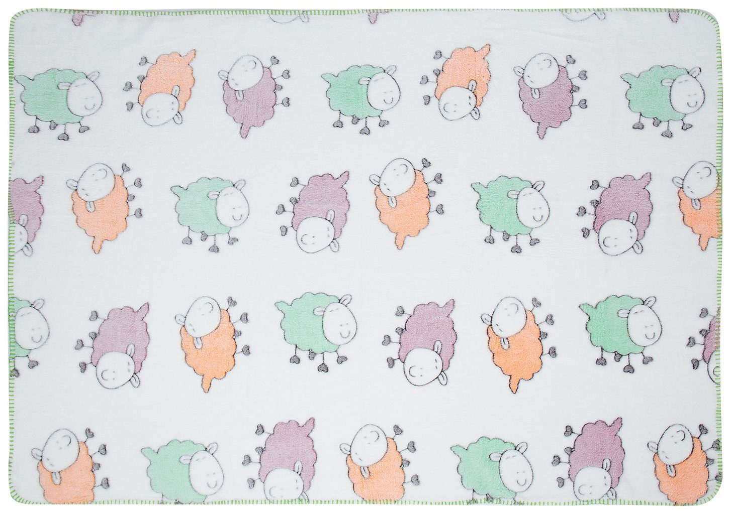 Плед-покрывало Baby Nice Разноцветные овечки 100x118