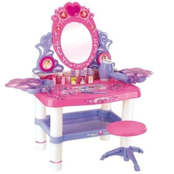 Туалетный столик Xiong Cheng трюмо игровой, свет, звук, Happy, Игрушечные туалетные столики  - купить со скидкой