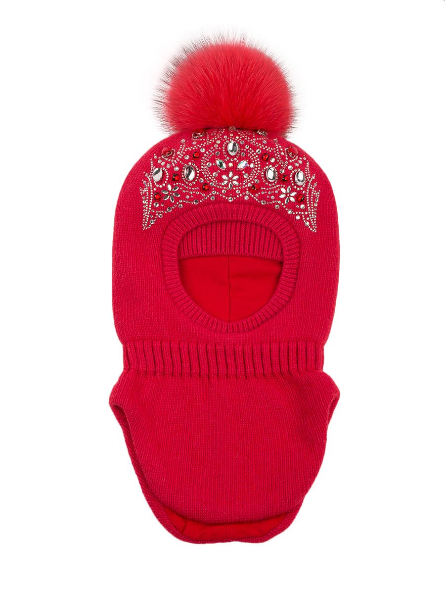 Шапка-шлем ALEKSA арт. Sh-di-5 р-р M (52-54) цв. ягодно-красный