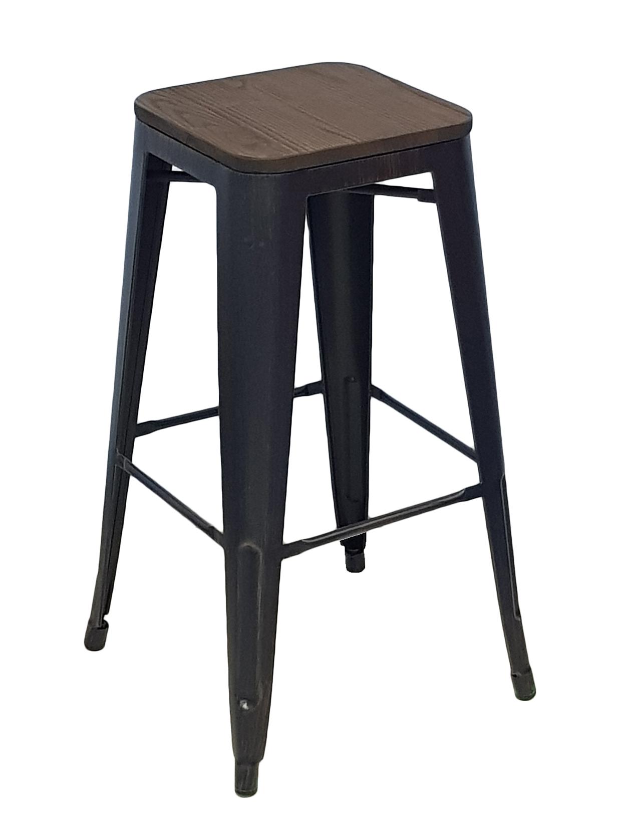 Барный стул STOOL GROUP Толикс, черный/патина золото