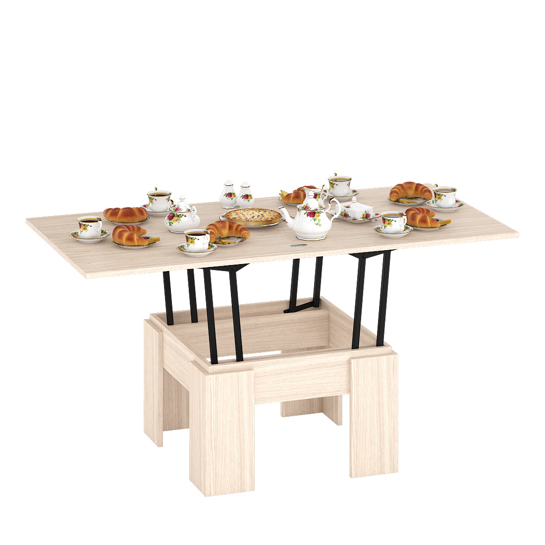 Журнальный столик Delice Бета 1668002 80(160)х80х47,5(81,5)