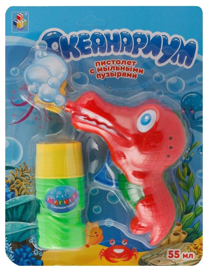 Пистолет с мыльными пузырями 1Toy Океанариум Крокодил