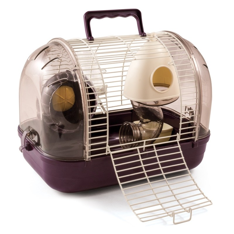 Клетка для мелких животных Triol Студия, фиолетовая,