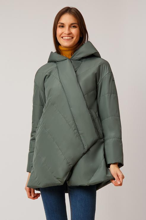 Куртка женская Finn Flare B19-11077 зеленая L фото
