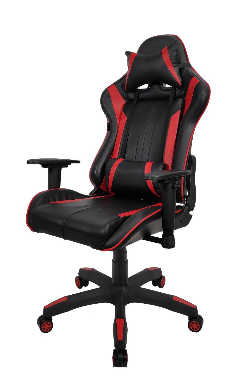 Игровое кресло Raybe K-5904 1066658, красный/черный