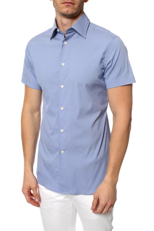 Рубашка мужская Corneliani 11478 голубая 39 IT