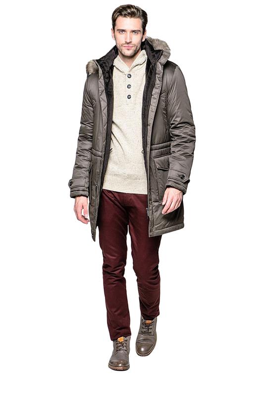 Куртка мужская BAZIONI 4029 коричневая 58 RU