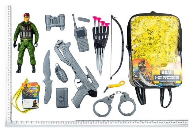 Игровой Набор Junfa Toys Военный Wg-A7082 В Рюкзачке 16 Предметов