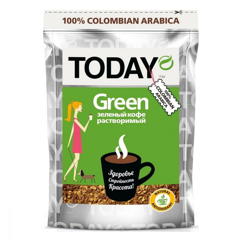 Кофе Today Green растворимый с зеленым кофе 75 г фото