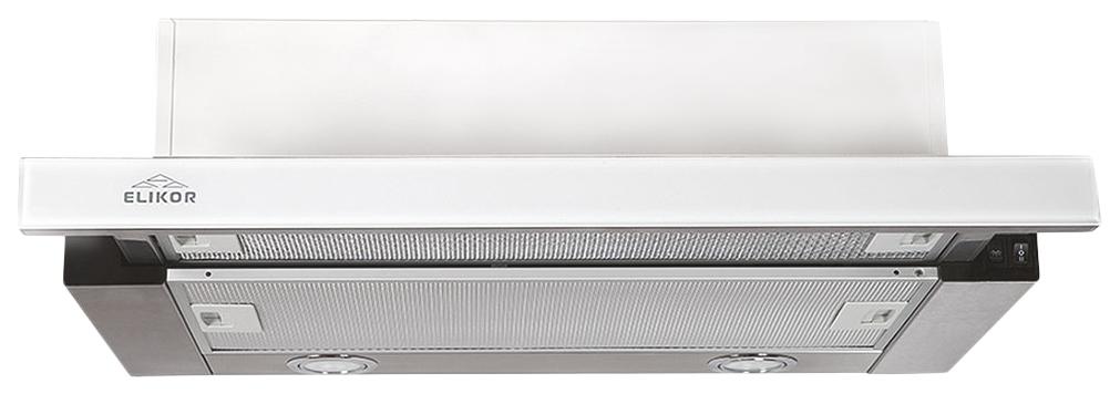 Вытяжка встраиваемая Elikor Интегра Glass 50Н-400-В2Г White/Silver