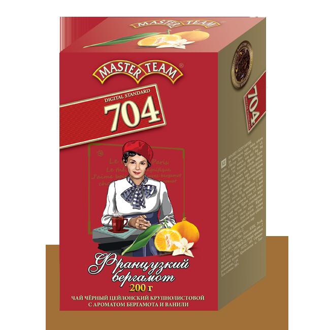 Чай черный  Master Team 704 французский бергамот байховый цейлонский крупнолистовой 200 г