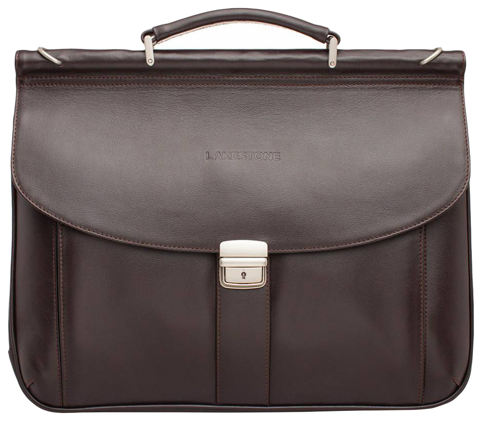 Портфель мужской кожаный Lakestone Hammond коричневый фото