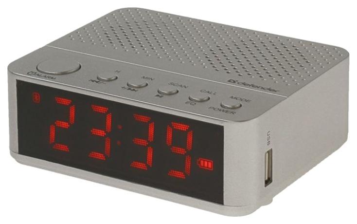 Радиоприемник часы колонка Defender Enjoy M800 Серебристый фото