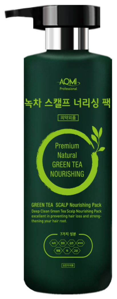 Маска для волос AOMI Green Tea Scalp Nourishing Pack 500 мл  фото